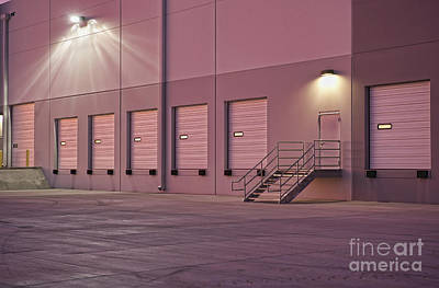 Distribution Center Bay Doors Poster by Dave & Les Jacobs