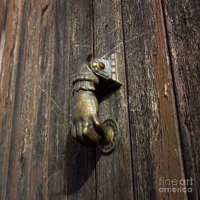 Door Handle In The Shape Of A Hand Poster by Bernard Jaubert