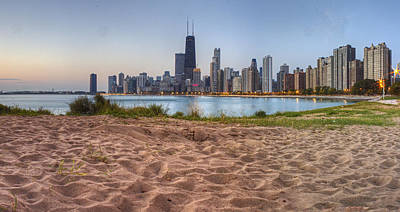 Downtown Chicago From North Beach Poster by Twenty Two North Photography