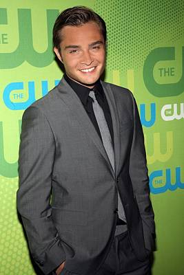 Ed Westwick At Arrivals For The Cw Poster by Everett