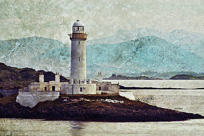 Eilean Musdile Lighthouse  Poster by Ray Devlin