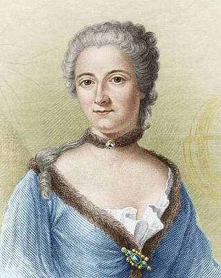 Emilie Du Chatelet, French Physicist Poster by Sheila Terry