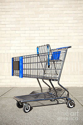 Empty Shopping Cart Poster by Paul Edmondson