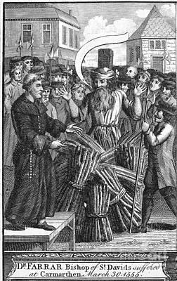 England: Burning At Stake Poster by Granger