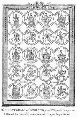 England: Royal Seals Poster by Granger