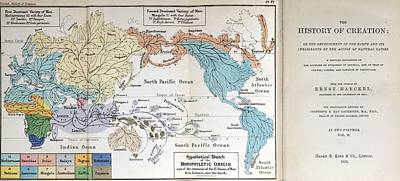 Ernst Haeckel Map Lemuria Human Origins Poster by Paul D Stewart