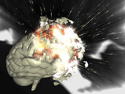 Exploding Brain Poster by Christian Darkin