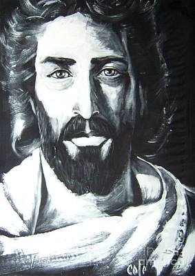 Face Of Christ Poster by Larry Cole