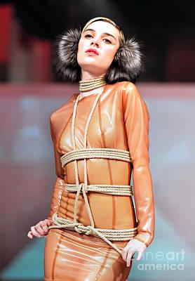 Fat Fashion Art Toronto Futurescape  Poster by Andrea Kollo