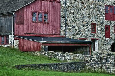 Field Stone Barn Poster by John Greim