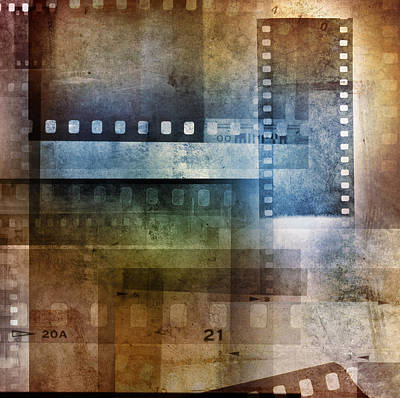 Film Negatives Poster by Les Cunliffe