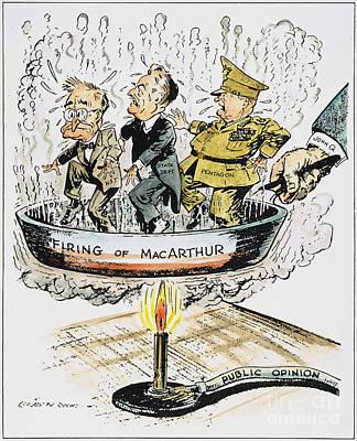 Firing Of Macarthur Poster