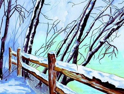 First Snowfall Poster by Brenda Owen