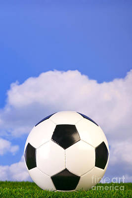 Football On Grass Poster by Richard Thomas