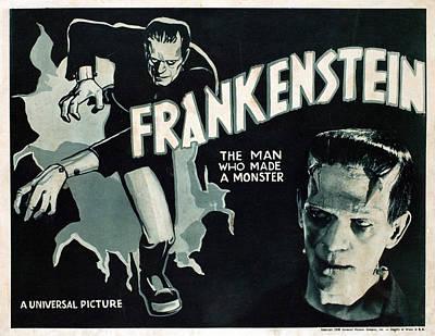 Frankenstein, Boris Karloff, 1931 Poster by Everett