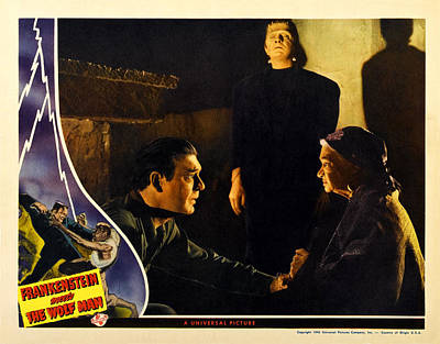 Frankenstein Meets The Wolf Man, Main Poster by Everett