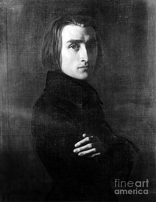 Franz Liszt, Hungarian Composer Poster by Omikron
