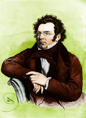 Franz Peter Schubert, Austrian Composer Poster by Omikron