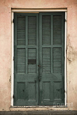 French Quarter Doors Poster by Leslie Leda