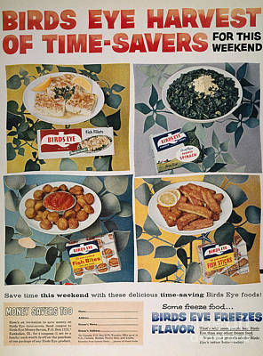 Frozen Food Ad, 1957 Poster by Granger