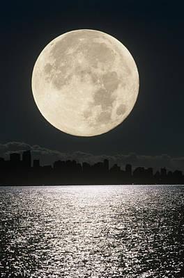 Full Moon Poster by David Nunuk