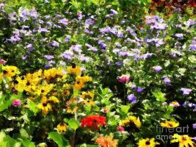Gail's Garden Poster