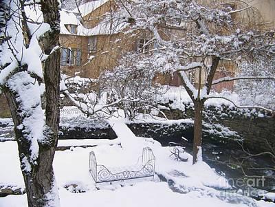 Garden In Winter Poster by Sylvie Leandre