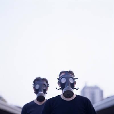 Gas Masks Poster by Cristina Pedrazzini