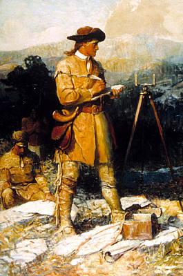 George Washington As A Young Surveyor Poster