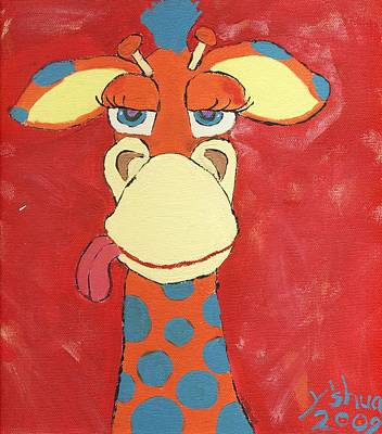 Giraffe Poster by Yshua The Painter