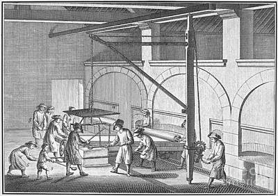 Glass Manufacture, 1751 Poster by Granger