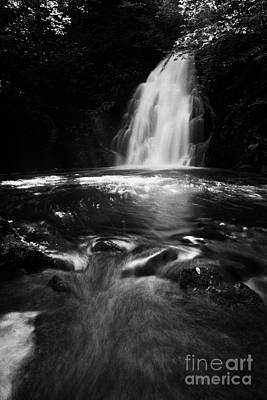 Gleno Or Glenoe Waterfall County Antrim Northern Ireland Uk Poster