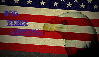 God Bless America Poster by Bill Cannon
