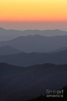 Great Smokie Mountains At Sunset Poster