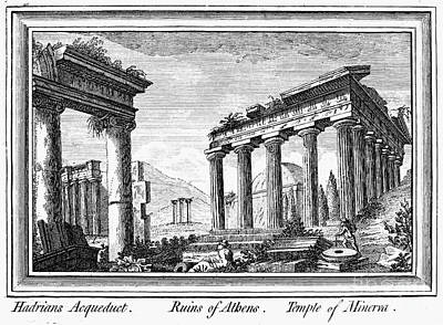 Greece: Ruins Of Athens Poster by Granger