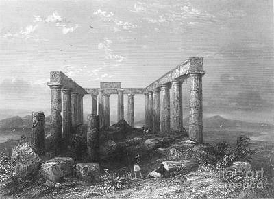 Greece: Temple Ruins Poster by Granger