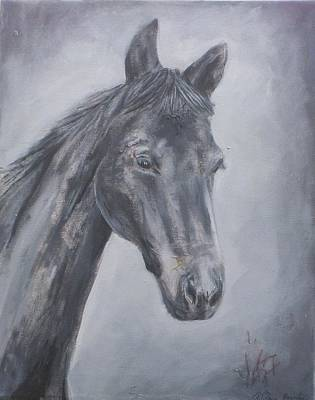 Grey Dawn Poster by Rebecca Bourke