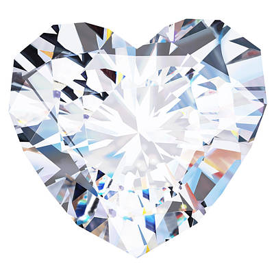 Heart Diamond  Poster by Setsiri Silapasuwanchai
