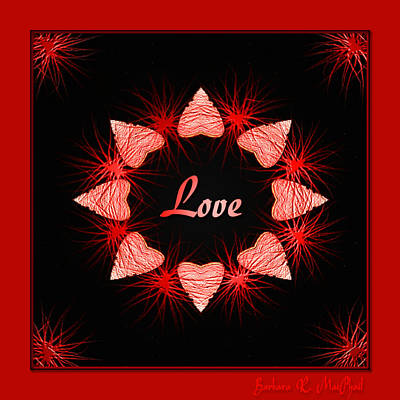 Poster featuring the digital art Hearts Of Love by Barbara MacPhail