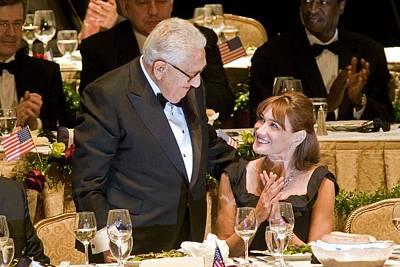 Henry Kissinger, Carla Bruni-sarkozy Poster by Everett