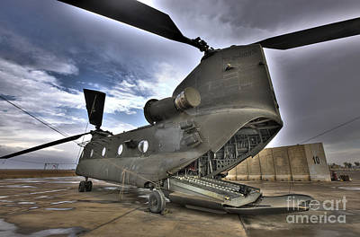 High Dynamic Range Image Of A Ch-47 Poster by Terry Moore