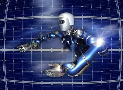 Humanoid Robot, Artwork Poster by Detlev Van Ravenswaay