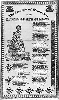 Hunters Of Kentucky, 1815 Poster