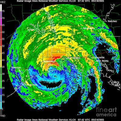 Hurricane Rita, Wfo Radar, 2005 Poster by Science Source