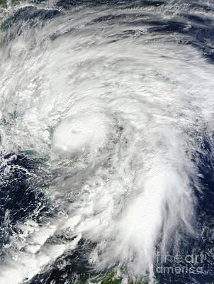 Hurricane Sandy Over The Bahamas Poster