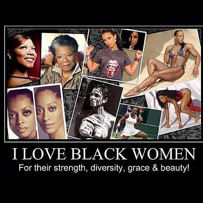 I Love Black Women Poster