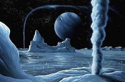 Ice Volcanoes On Triton, Artwork Poster by Richard Bizley