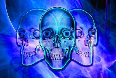 Illuminated Skulls Poster