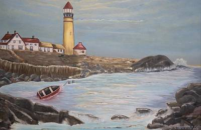 Poster featuring the painting In Search Of Portland Maine - Mary Krupa by Bernadette Krupa