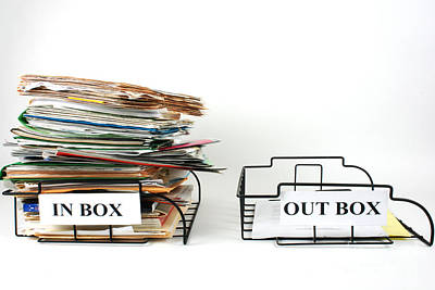 Inbox And Outbox Poster by Photo Researchers, Inc.